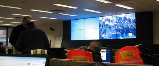 Philadelphia, Pa., Jan. 21, 2013 -- FEMA staff monitor the Presidential Inauguration in the Regional Response Coordination Center.